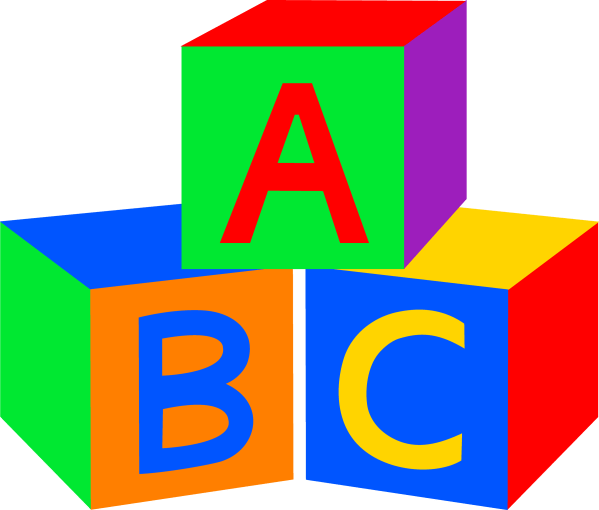 Abc Baby Blocks - Free Clip Art