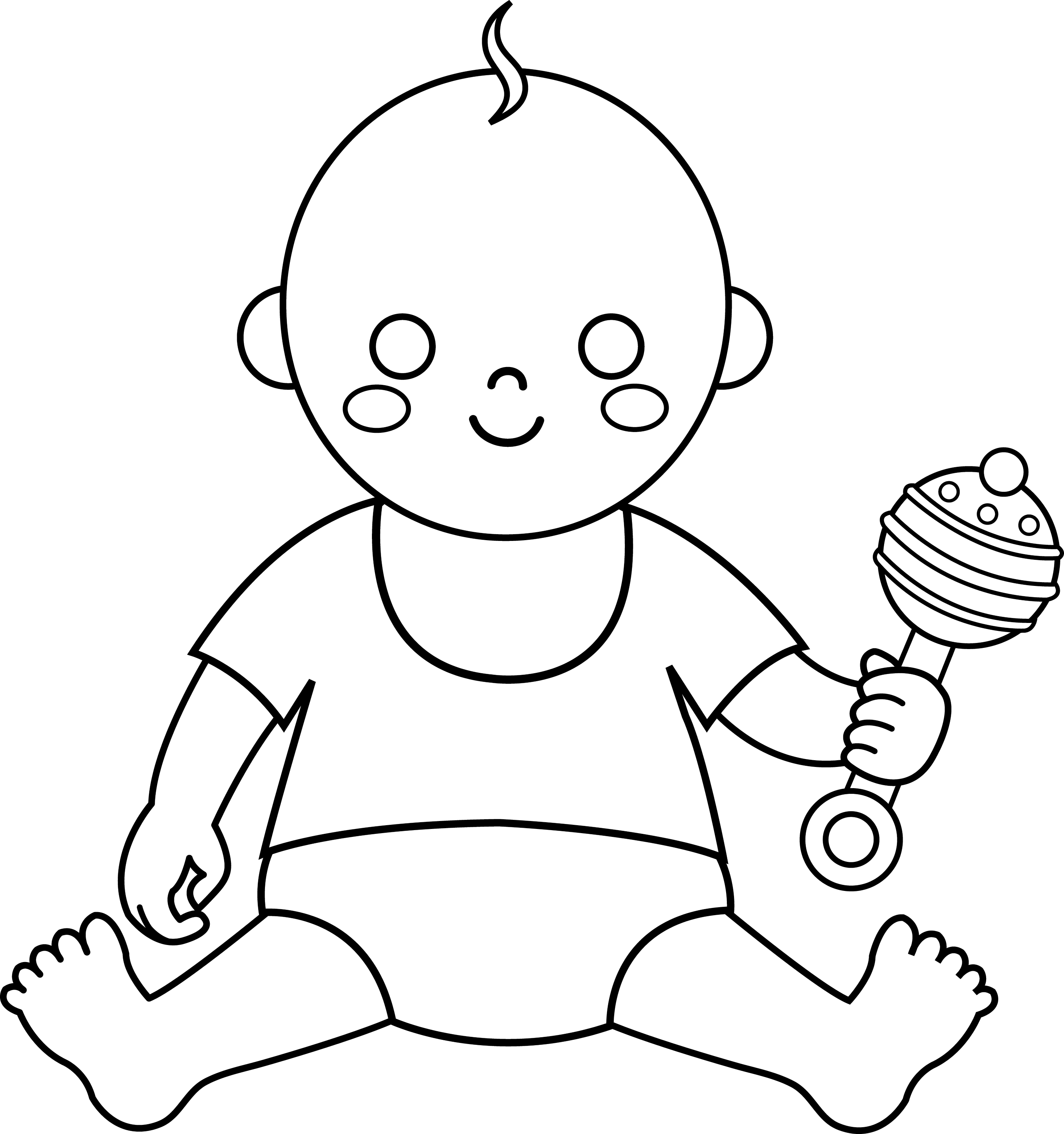 Colorable Baby Design
