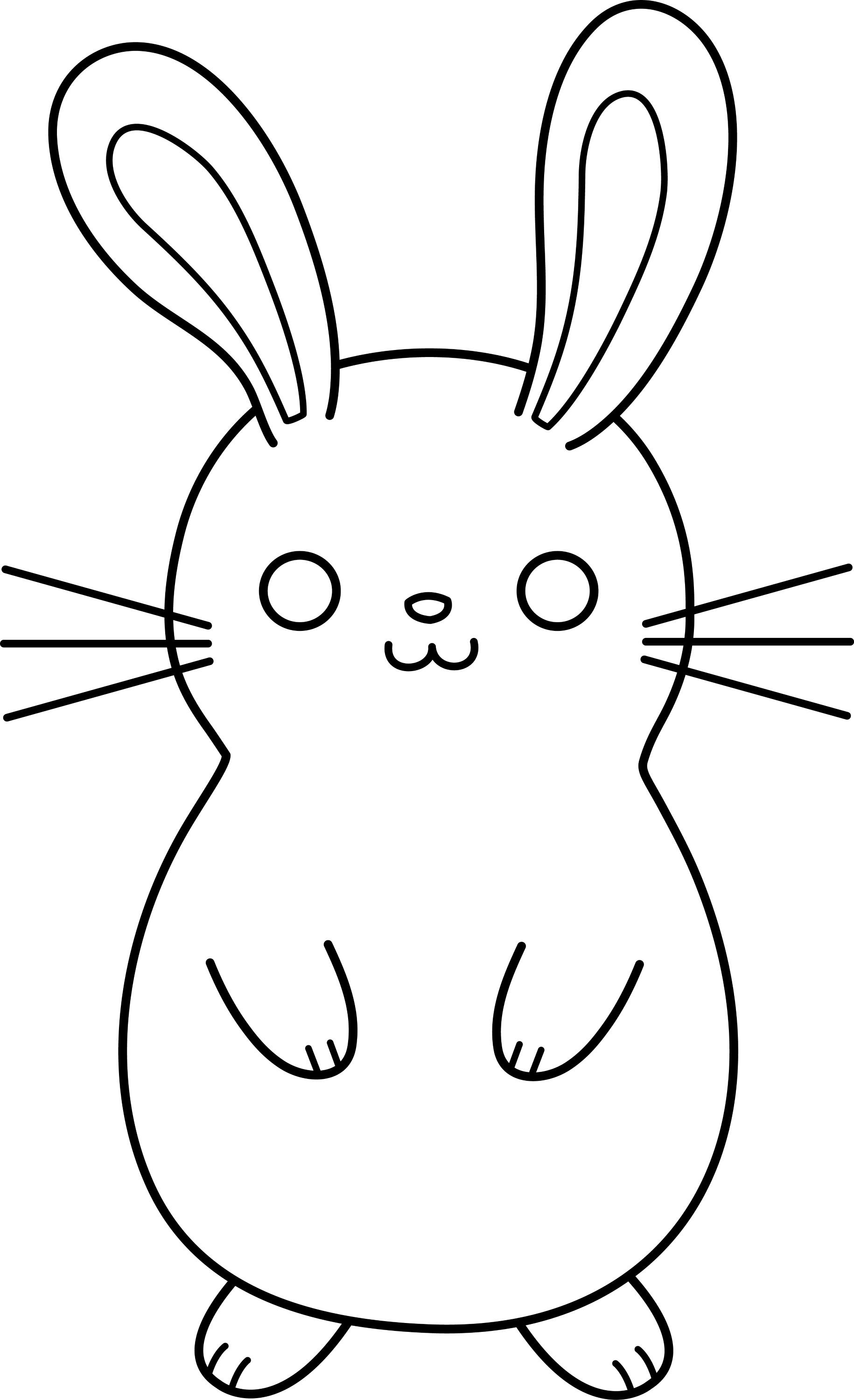 Cute Colorable Easter Bunny