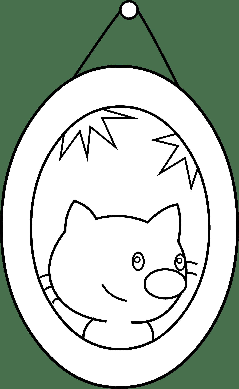 Cute Cat Portrait Coloring Page