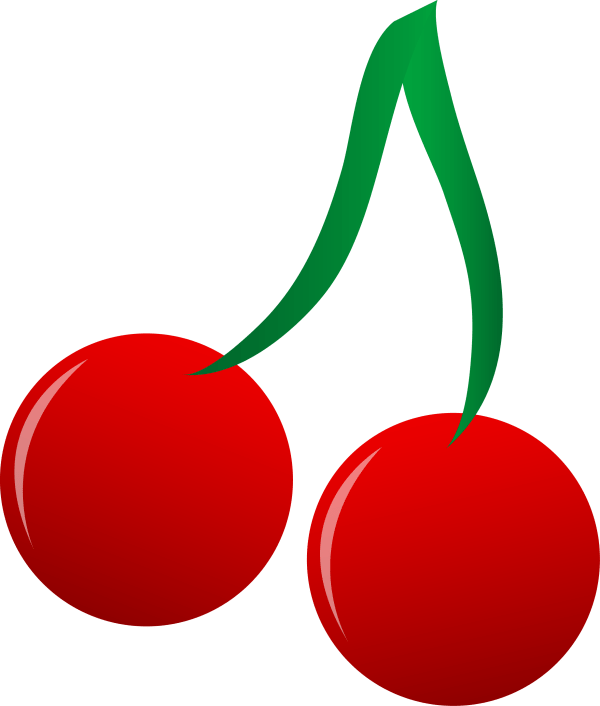 Bright Red Cherries Vector Art - Free Clip