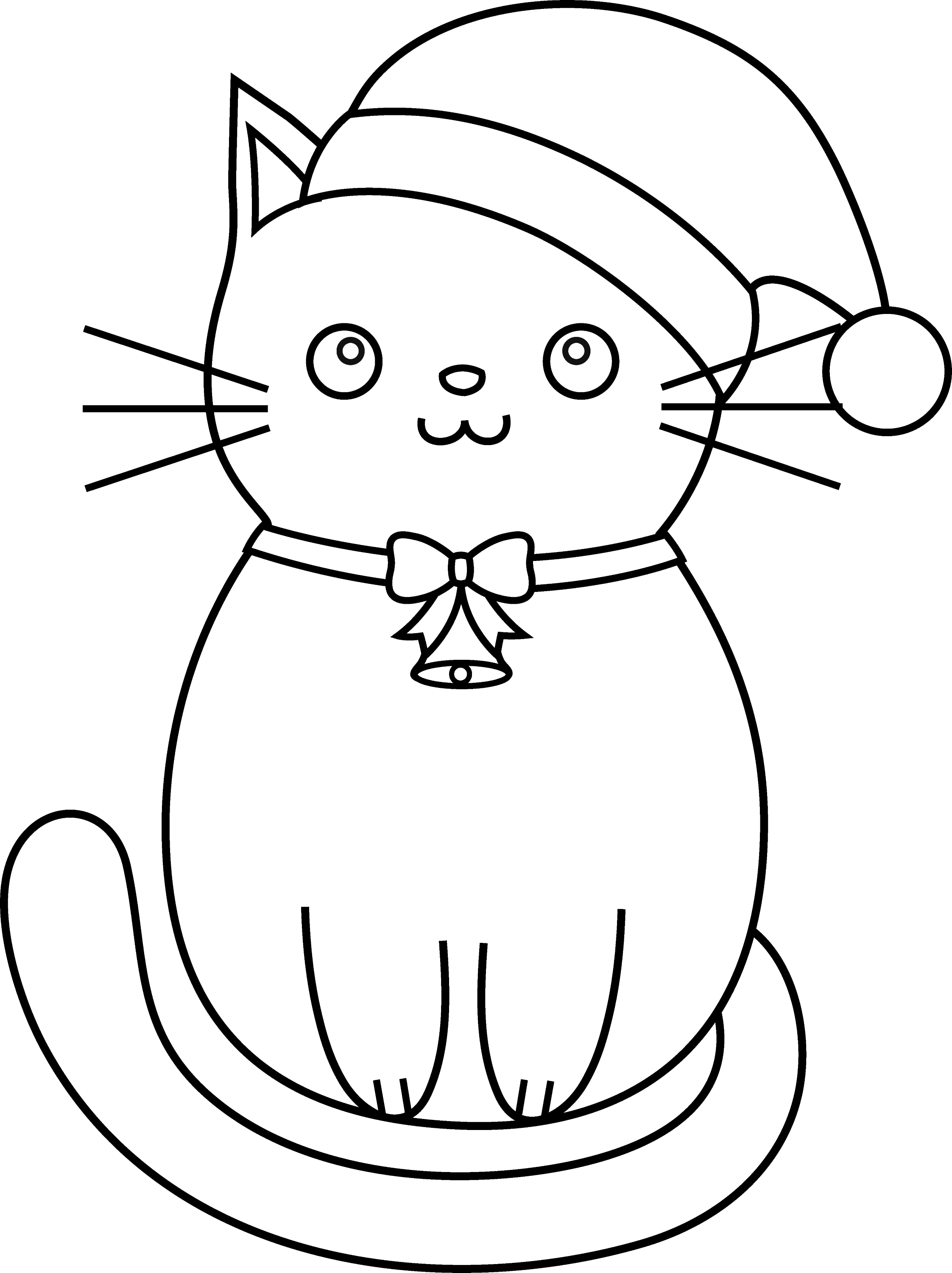 Cat Outline Coloring Page Coloring Pages