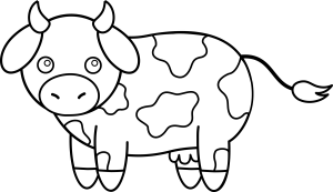 cow clipart clip cows line drawing cattle outline colorable cliparts head coloring animal panda sweetclipart attribution forget link don