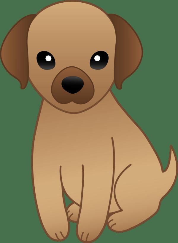 Little Brown Puppy - Free Clip Art