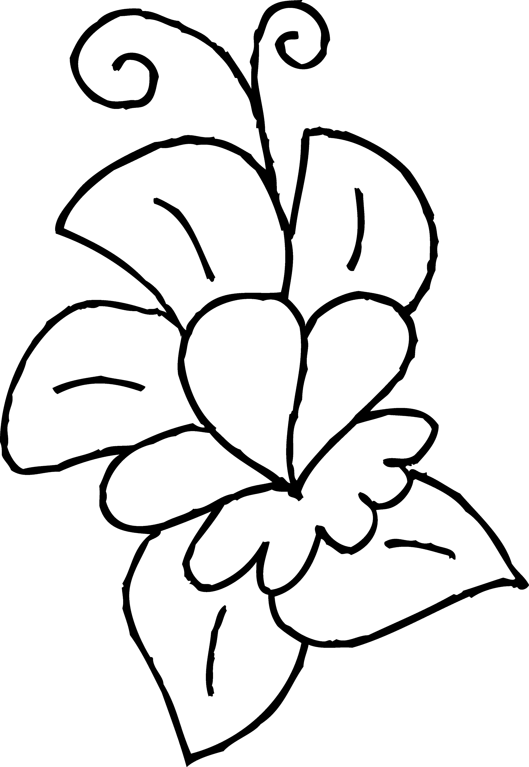 Cute Spring Flower Coloring Page 3