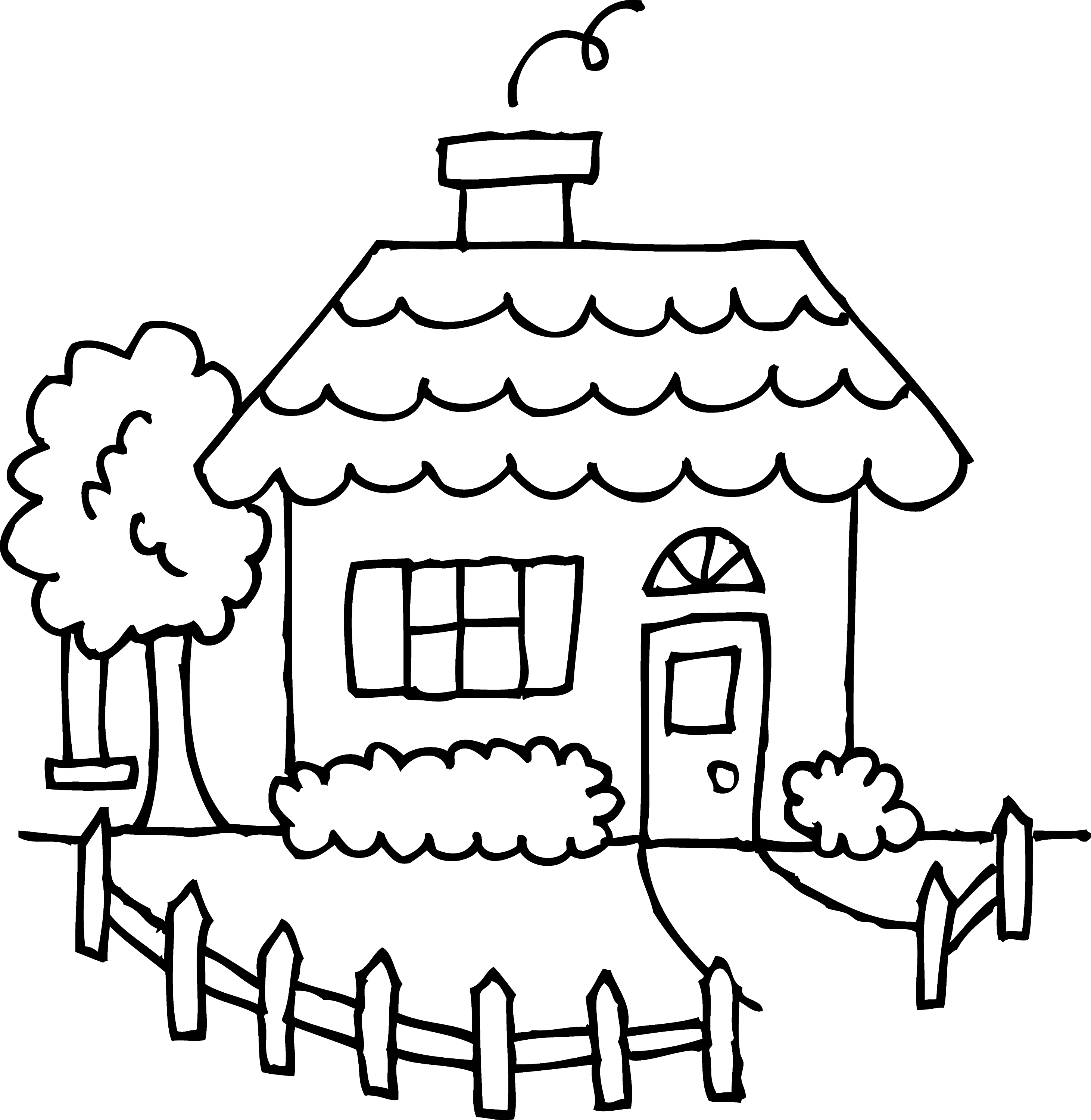 Cute Cozy House Coloring Page