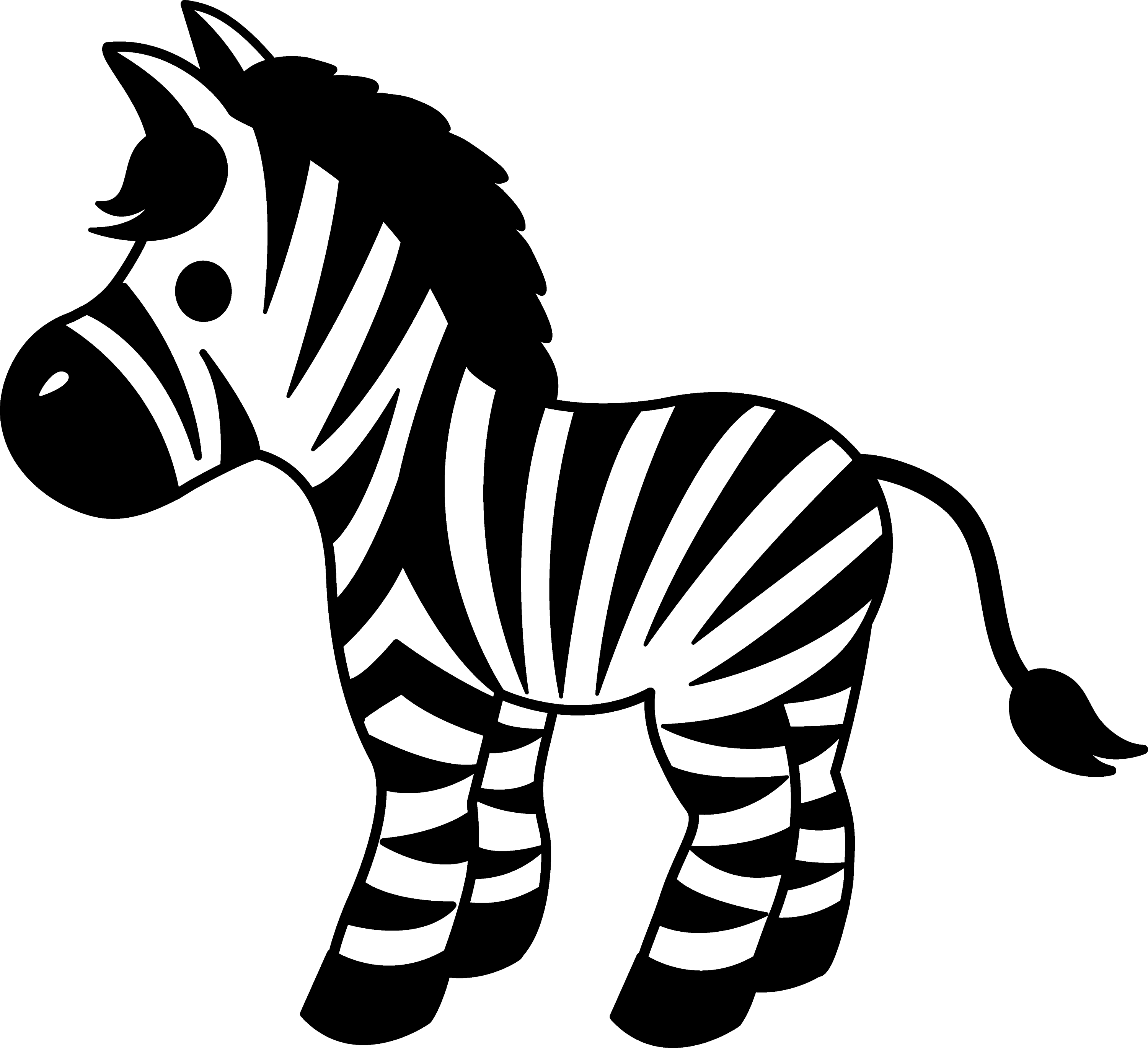Cute Striped Zebra Clipart