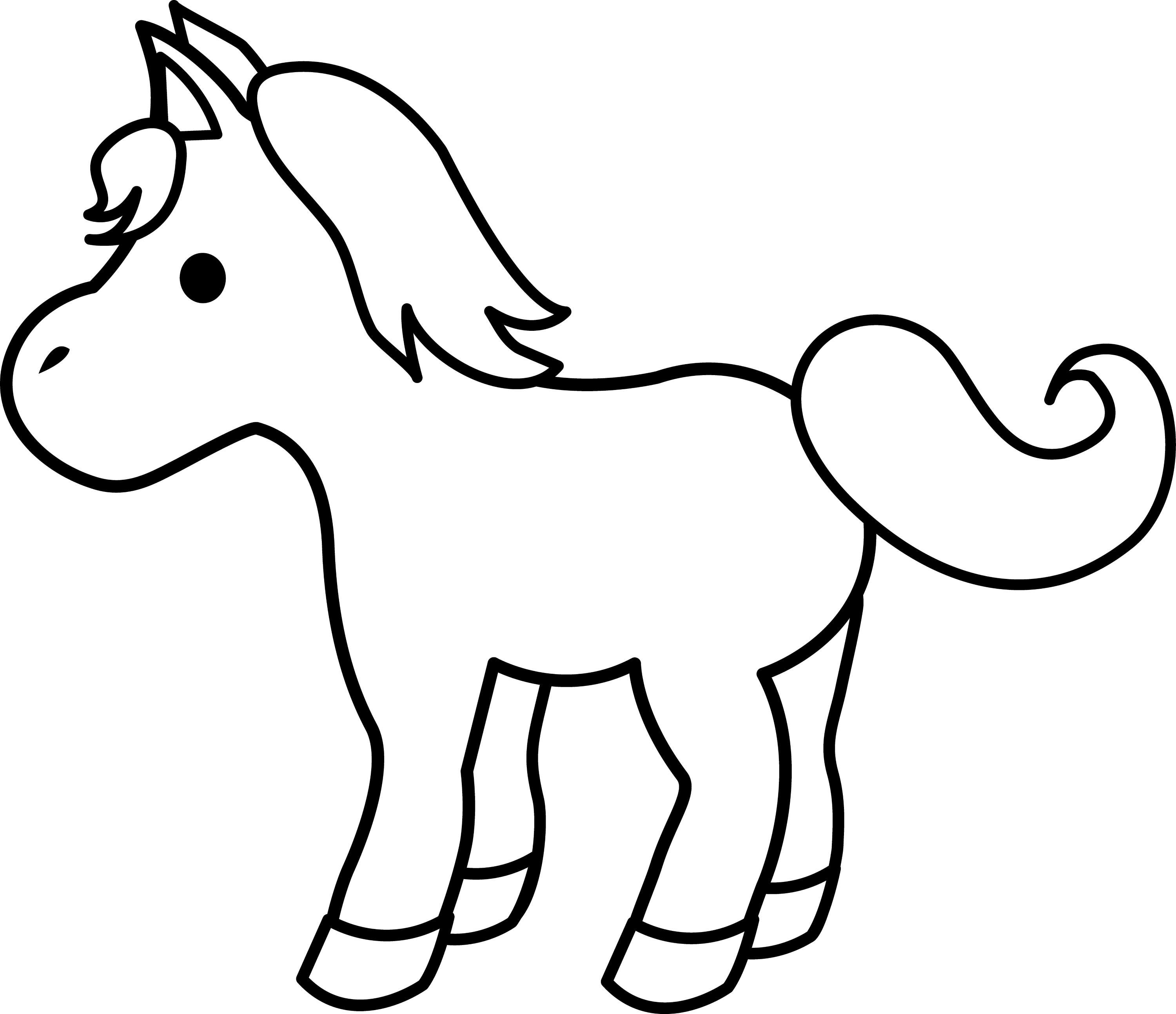 Cute Pony Line Art