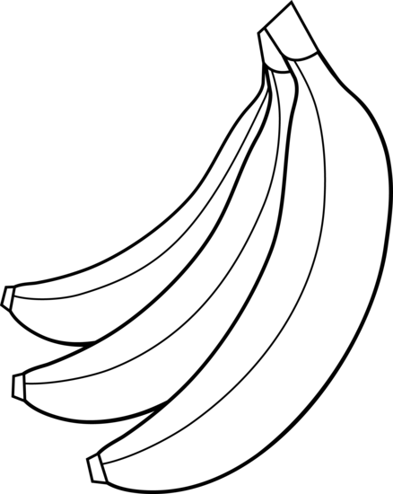 colorable bunch of bananas - free
