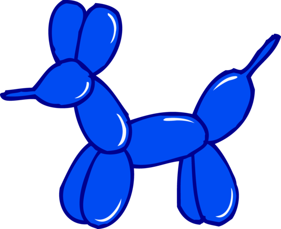 cute blue balloon animal - free