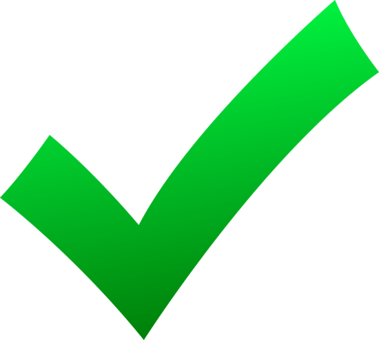simple green check mark - free