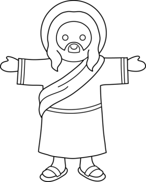 jesus coloring clip sweetclipart