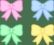 cute pastel holiday bows - free