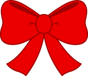 cute red bow clipart - free clip