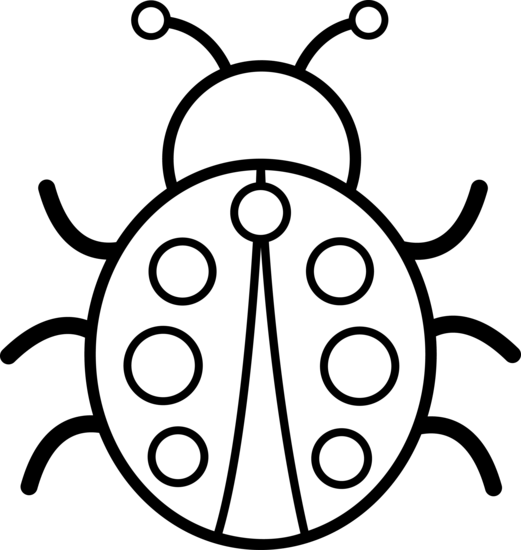 pin ladybird-cartoon-outline