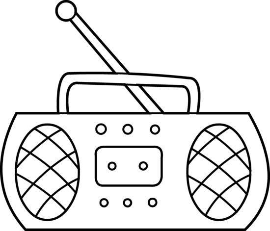Coloring pages the radio