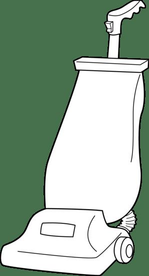 Vacuum Cleaner Line Art  Free Clip Art