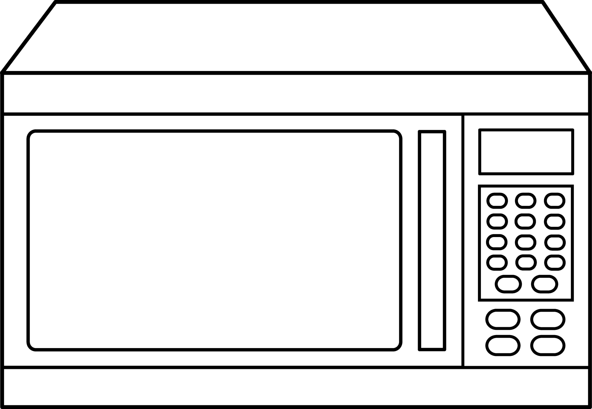 hight resolution of microwave oven outline
