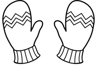 Free winter mittens coloring pages