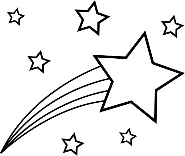 shooting star colorable line art