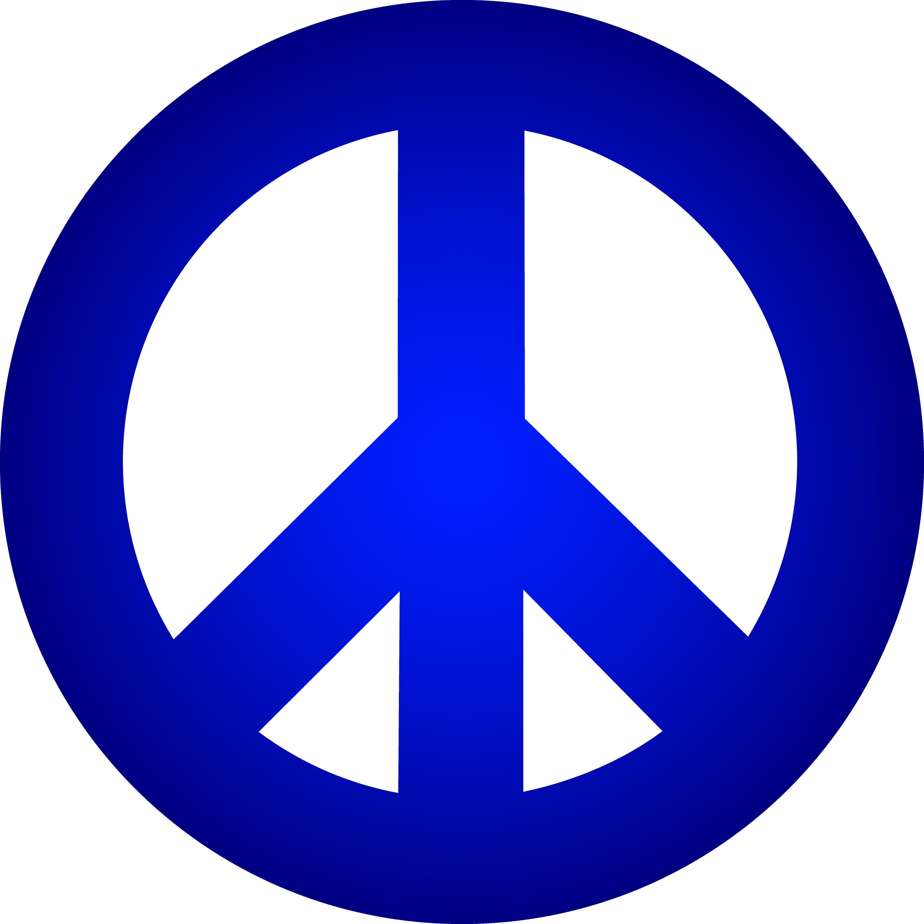 blue peace sign free
