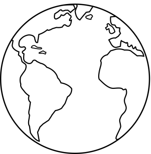 earth line clip colorable planet sweetclipart