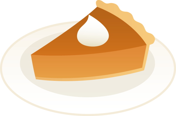 slice of pumpkin pie plate