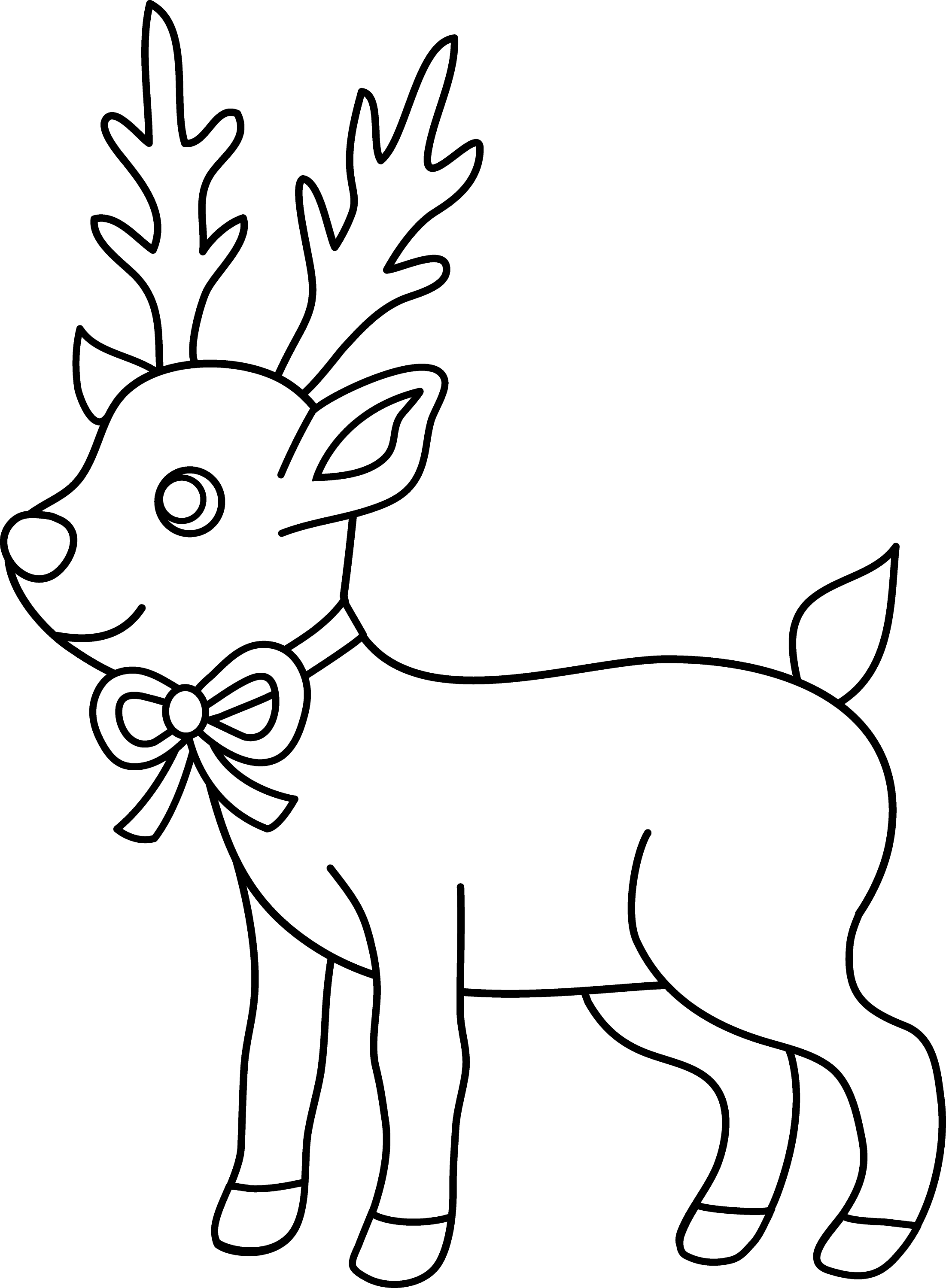 Christmas Reindeer Coloring Page