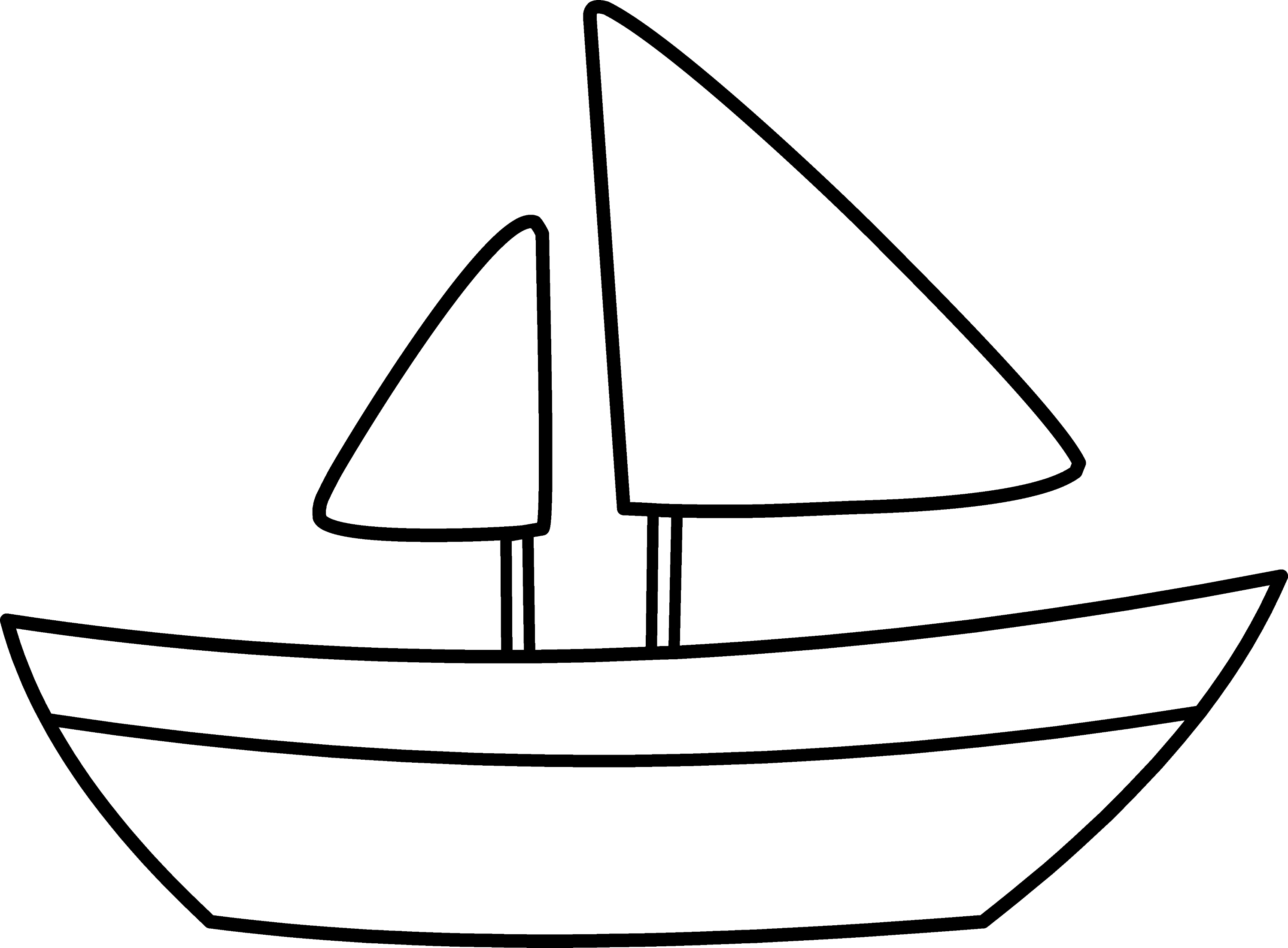 Simple Sailboat Coloring Page