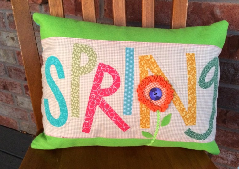 scrappy pillow finished