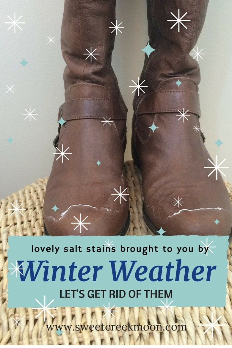 Salt stains from winter weather