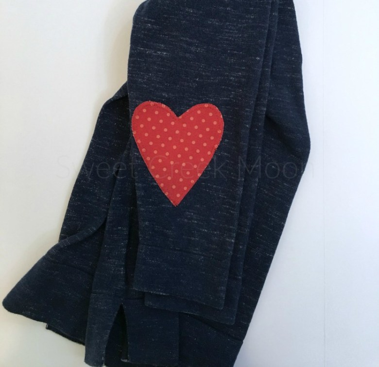 heart elbow patch top completed