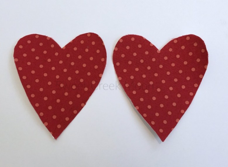 heart elbow patch top two fabric hearts