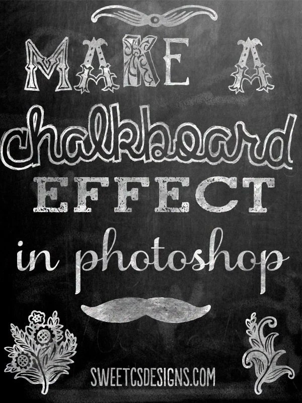 make a chalkboard printable