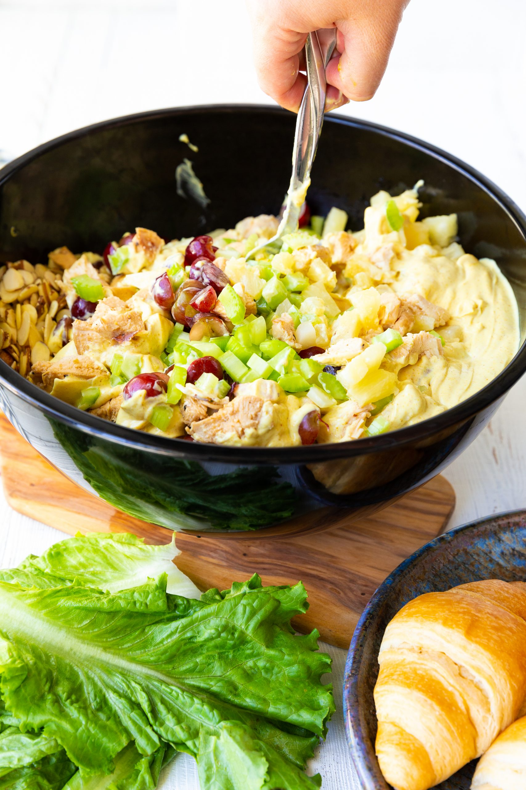 picture of chicken salad in a bowl