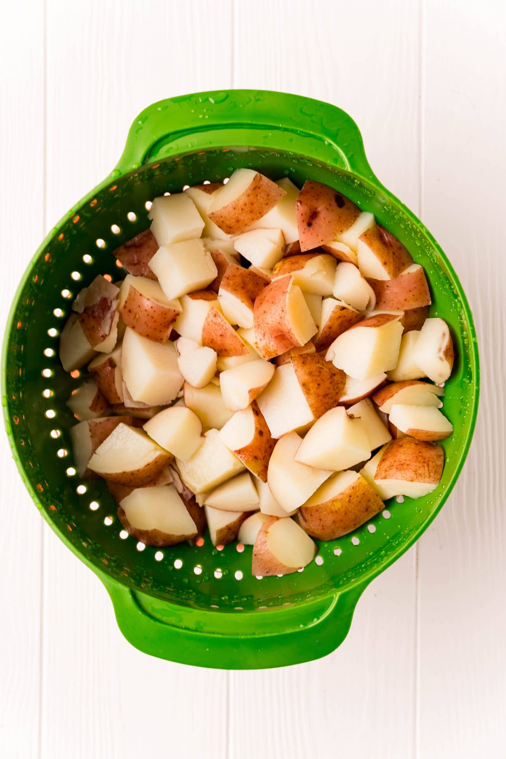 picture of potatoes in colander