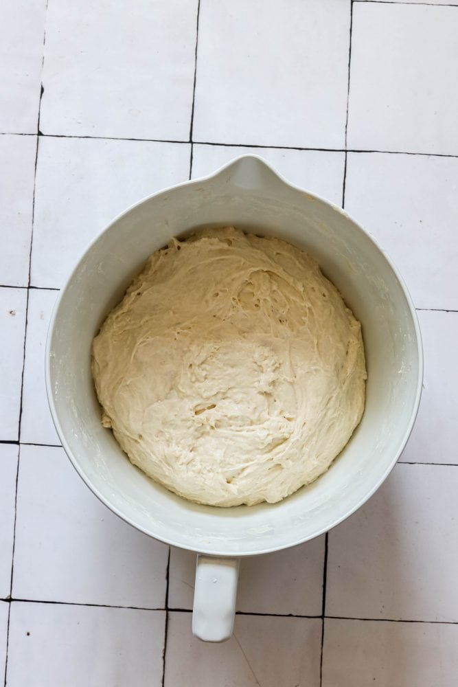 picture of bread dough in a bowl