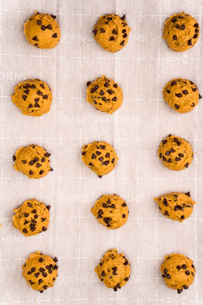 picture of cookies on a baking sheet