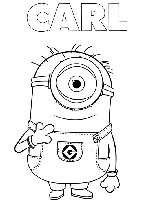 Comment Dessiner Un Minion : comment, dessiner, minion, Coloriage, Dessin, Minion, Moche, Méchant