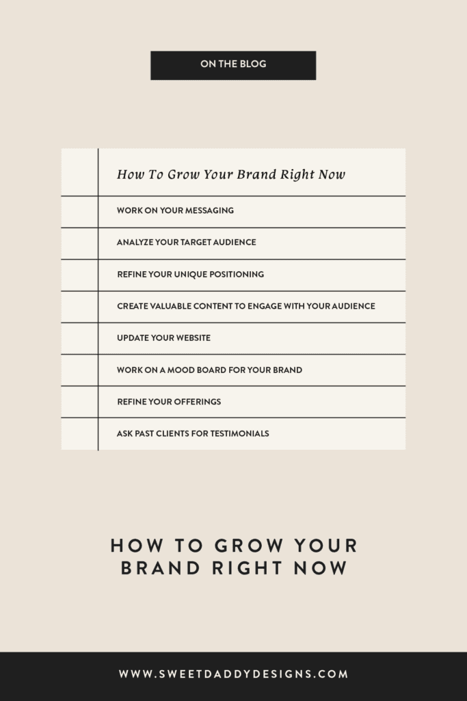 How to grow your brand right now
