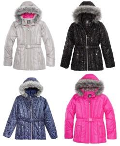 SALE! $24.99 (Reg $85.00) Big Girls  Puffer Jacket