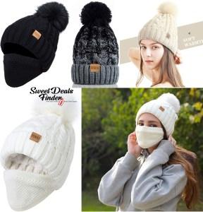 $10.49 – $13.99 (Reg $14.99 – $19.99) Women's Winter Pompom Beanie Hat