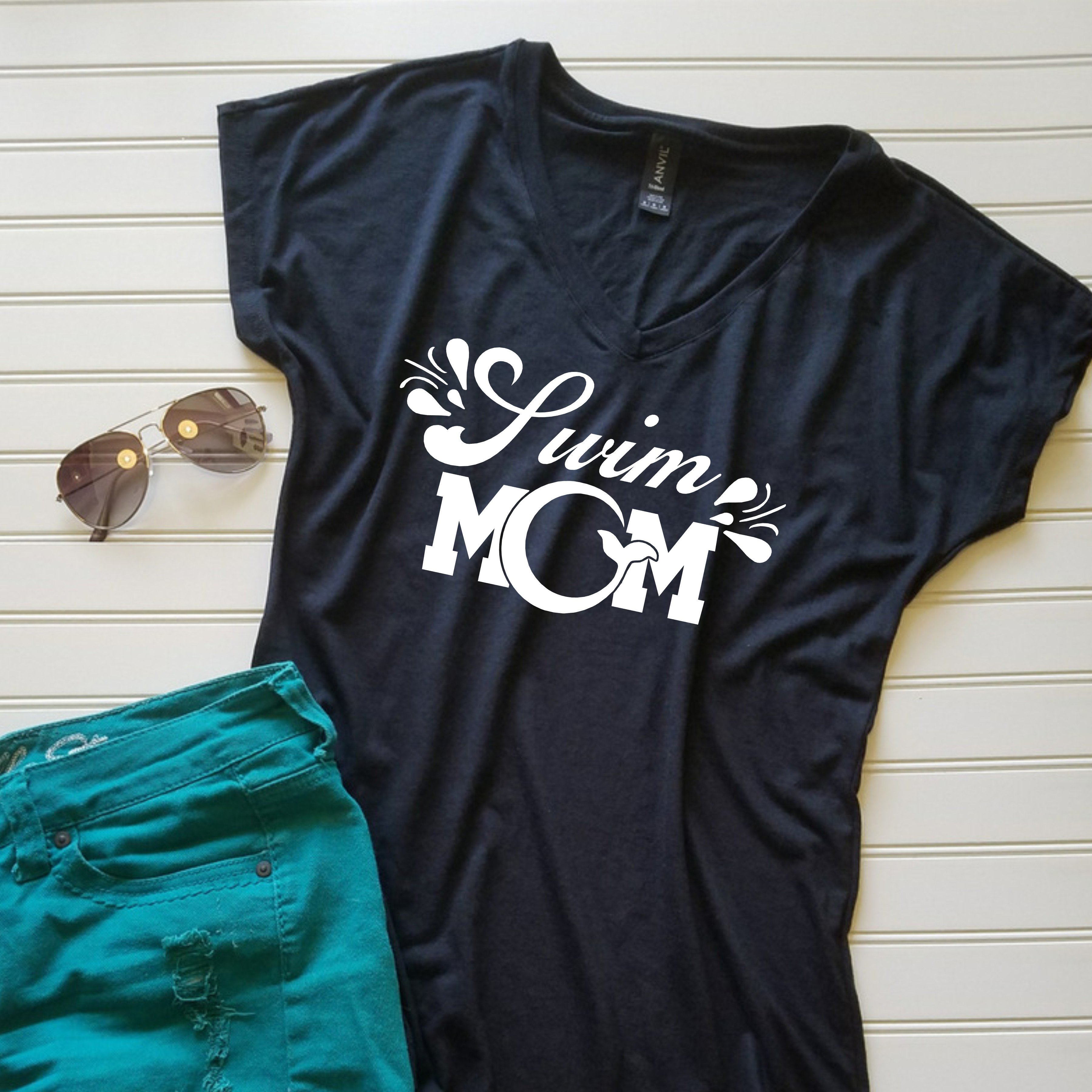 Details About Swim Mom Shirt Mom Tshirt Gift For Her Gift For Mom Custom Tshirt