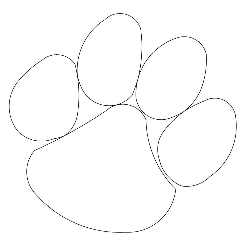 clemson paw Colouring Pages