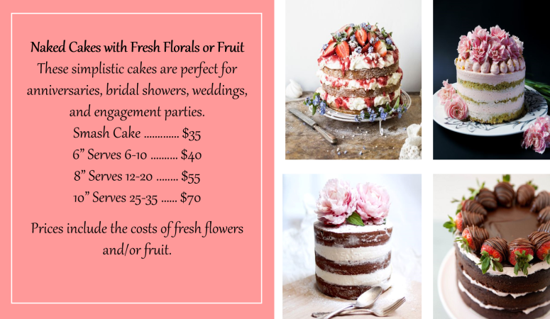 Aug 2018 Naked Cakes