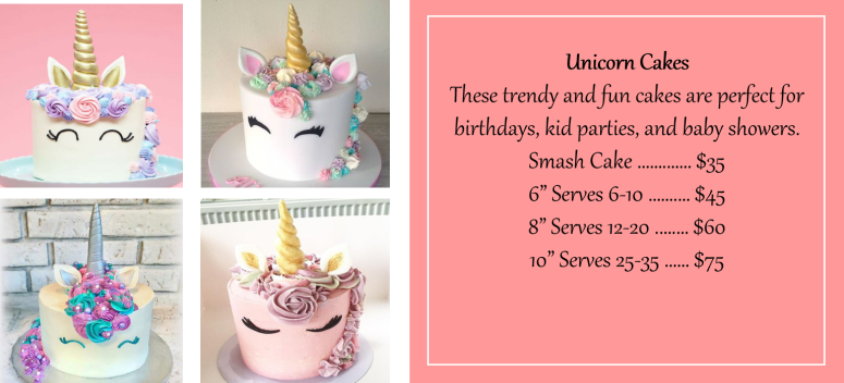 Aug 2018 Unicorn Cakes