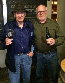 Jerry and Rick with their glasses of Amarone'.