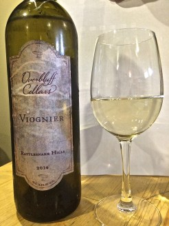 Overbluff Cellars 2014 Viognier from Rattle Snake Hills in the Yakima AVA.
