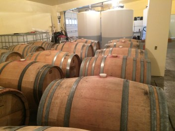 The red grapes we crushed and fermented are in tank and ready to go to barrel.
