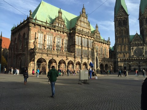 Cathedral in Bremen's Market Square.